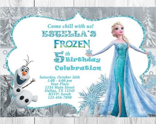 10 tarjetas de cumpleaños invitaciones princesa sofia frozen