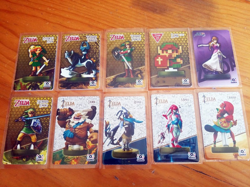 10 tarjetas de zelda (incluye campeones + regalo)
