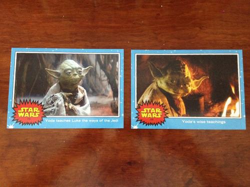 10 tarjetas gigante star wars yoda sdcc 2015 exclusiva topps