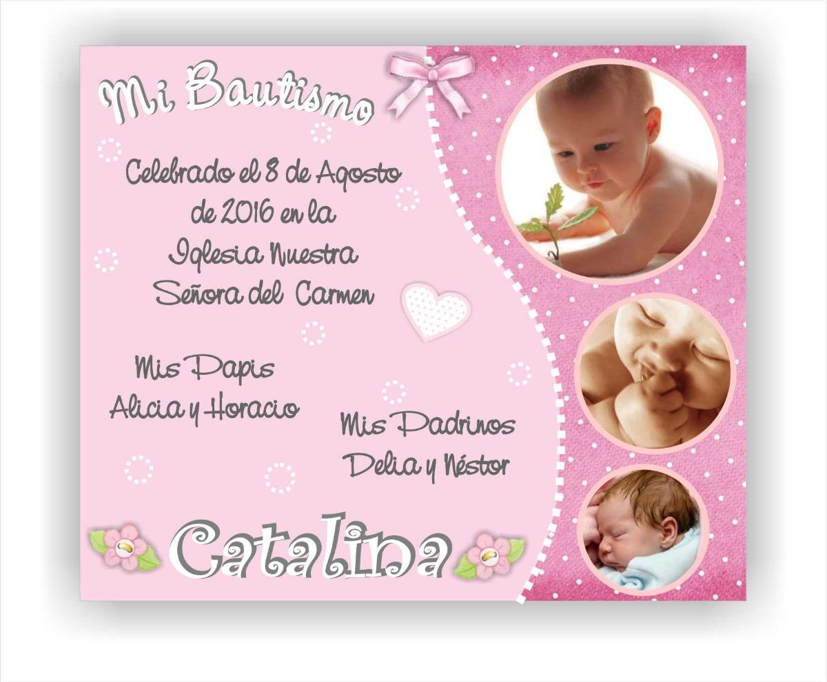10 Tarjetas Invitación Bautismo Cumpleaños Mercado Envíos