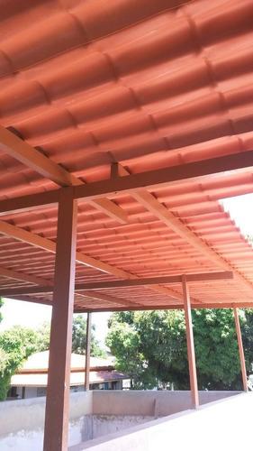 10 - telha pvc colonial ecológica - 2,30m x 0,88m