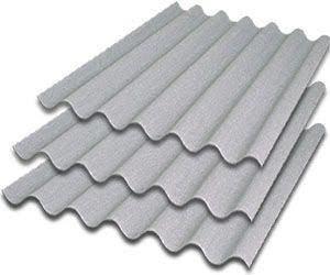 10 telhas de fibrocimento ondulada 244cmx110cm