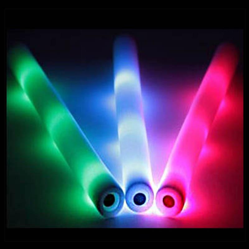 10 tira barra de espuma c luz led multicolor fiestas for Barra de luz led