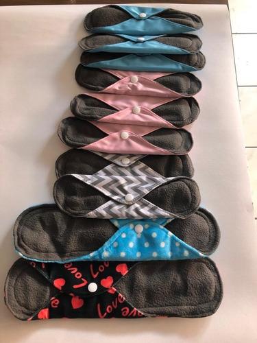 10 toalla menstrual tela ecologica femenina  pañales bambu