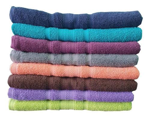 10 toallas medio baño, 100% algodón,  con envió gratis!!!