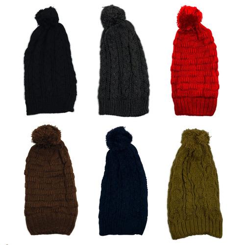 10 touca gorro tricô lã quente inverno variadas atacado