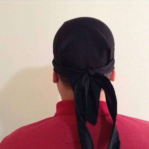 10 touca toquinha toca bandana preta a pronta entrega