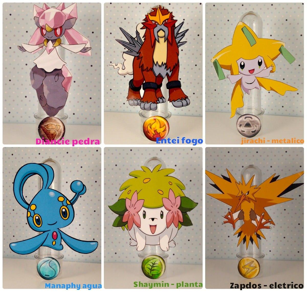 10 tubete lembrancinha pokémon lendario decoração de festas r 24