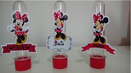 10 tubetes personalizados minnie e mickey