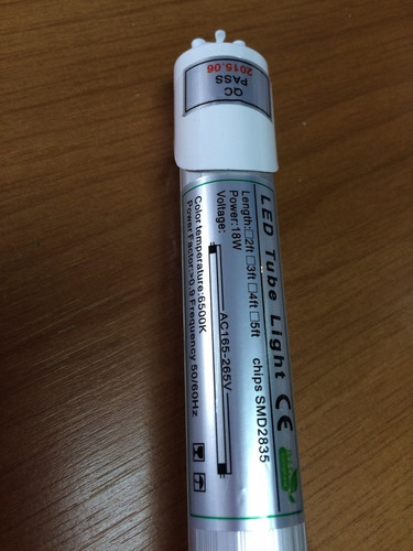 10 tubo de luz led 18 w sin artefacto
