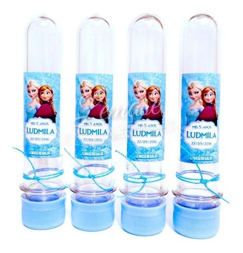 10 tubos golosineros personalizados tubitos souvenir cumple
