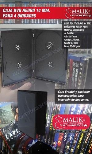10 un. caja para guardar 4 discos 14mm media nueva 100%
