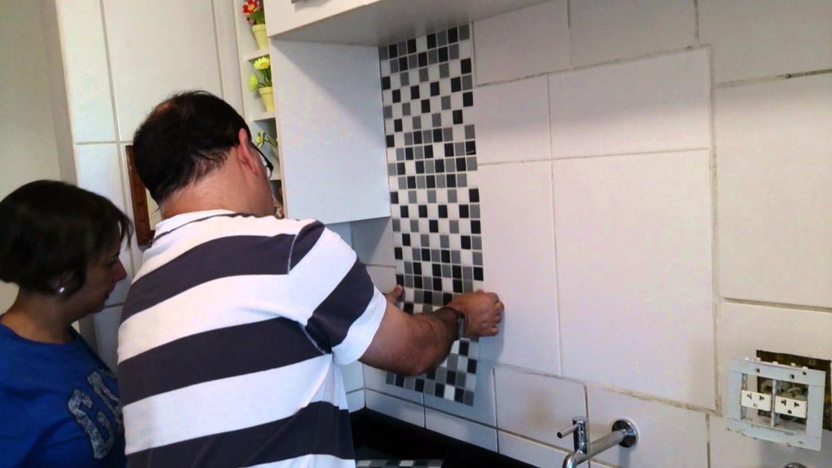 Aparador Rommanel ~ 10 Und Adesivo Azulejo Pastilha Cozinha Banheiro Placa