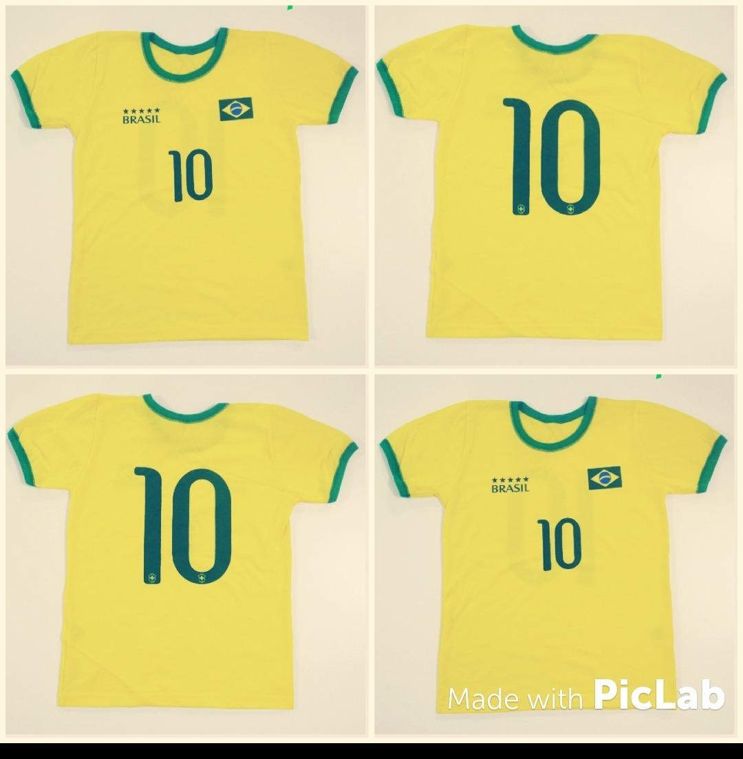 e47a33e5bdbdf 10 und camisa seleção brasileira 2018 atacado infantil. Carregando zoom.