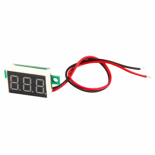 10 unid mini voltímetro led digital 4.5~30v medidor som lcd