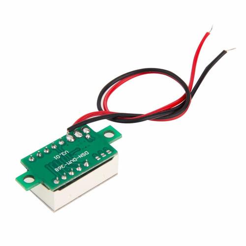 10 unid mini voltímetro led digital 4.5~30v medidor som lcd