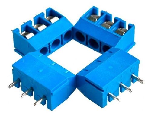 10 unidades bornera 3 pines paso 5mm electronica proyectos
