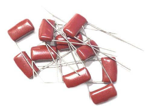 10 unidades  capacitor poliester 0.47mf 0,47 uf x 100v