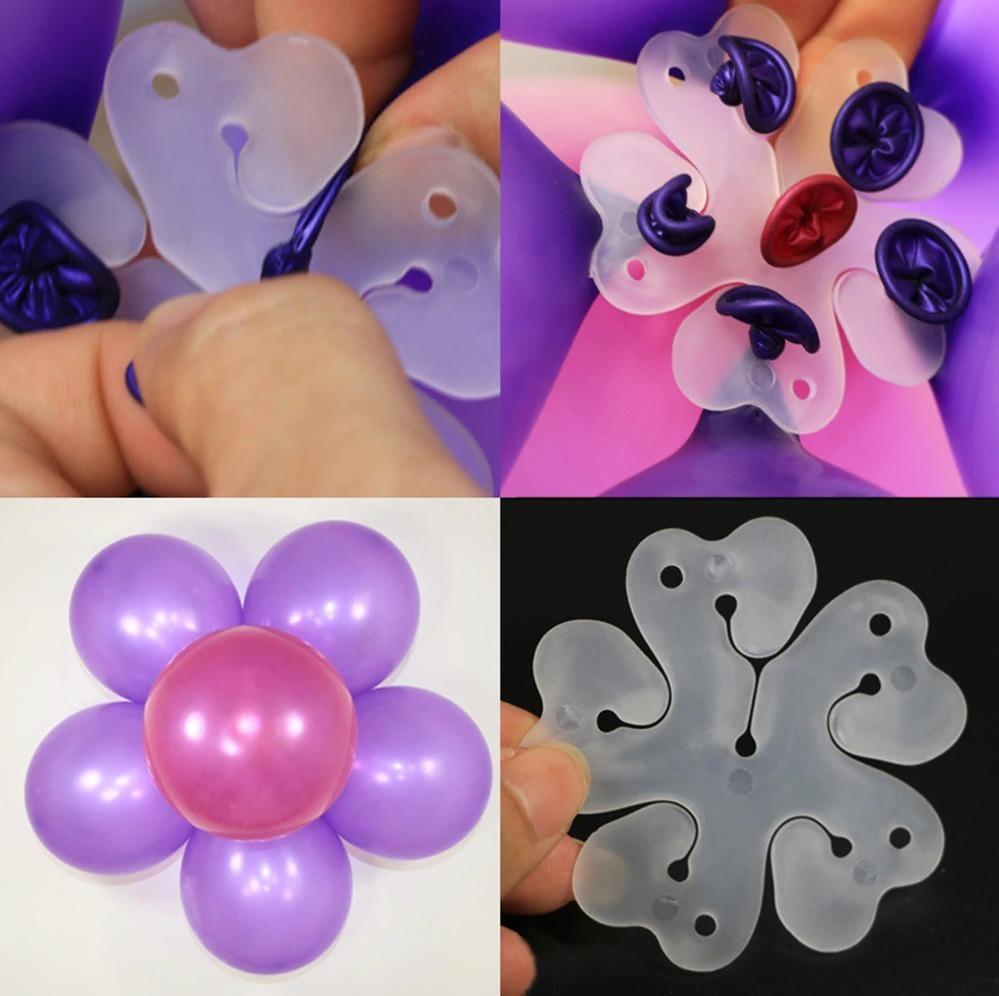 10 Unidades Clips De Globos De Plástico Para Hacer Flores