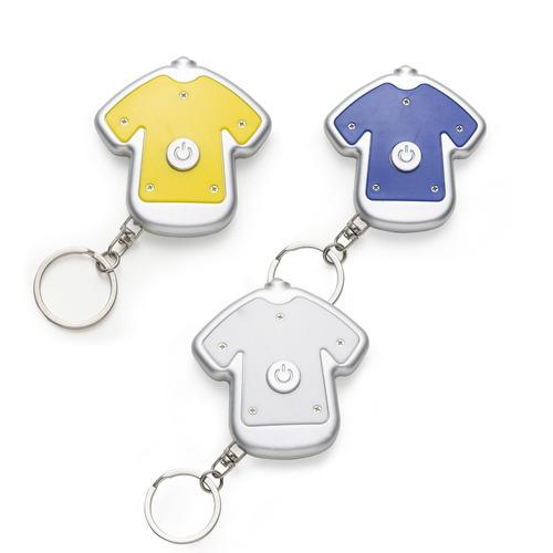 10 unidades de chaveiro lanterna formato camiseta