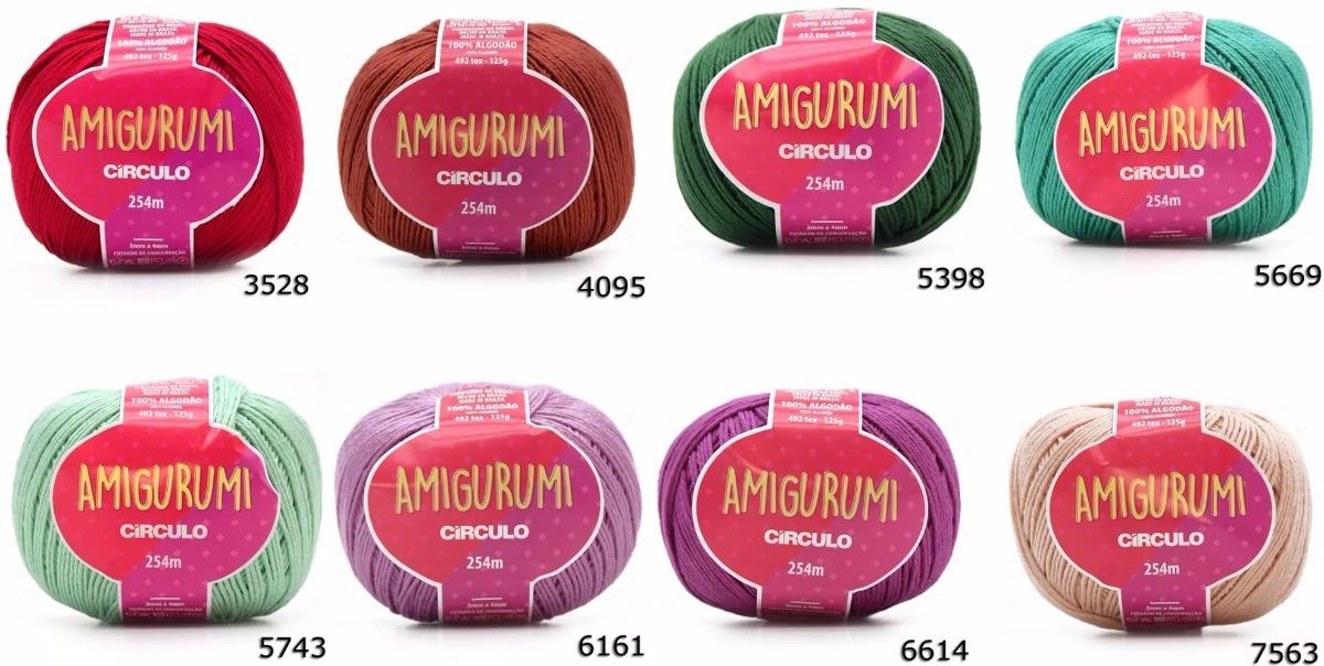 Kit Linha Amigurumi Tons Pastéis - 5 Cores - Bazar Horizonte | 604x1200