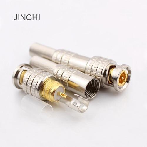 10 unidades full-dorado cobre on bnc conector soldar