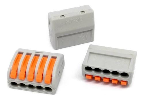 10 unids conector wago borne emenda 5 fios - modelo pct-215