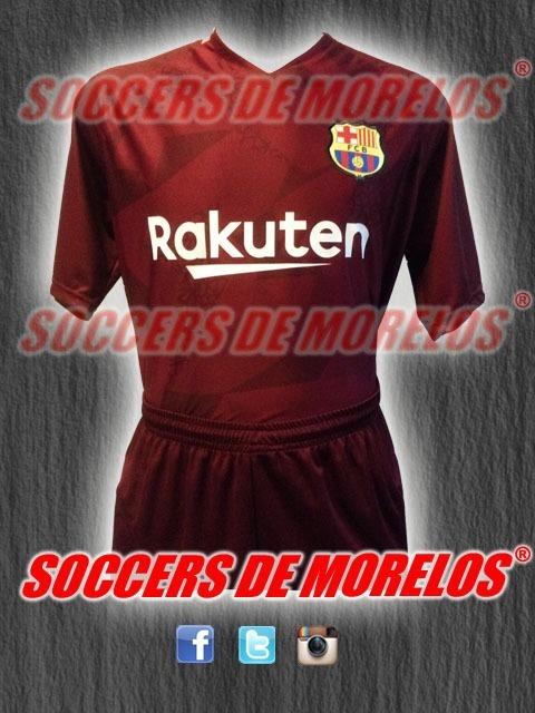 87a8b156190cb 10 Uniformes De Futbol Barcelona Visita 2018 Dri-fit -   3