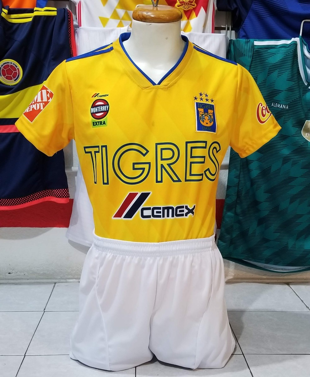 56be47e7a9f7a Uniformes de futbol calidad dri fit tigres local jpg 987x1200 Uniformes  futbol tigres