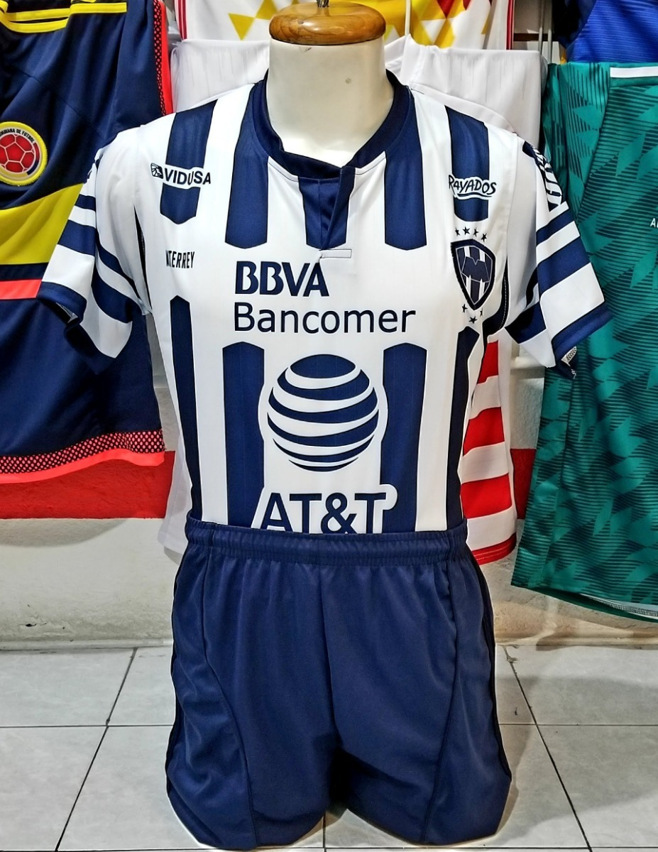 94ed506c20344 10 Uniformes De Futbol Monterrey Local 2019 Dri-fit -   3