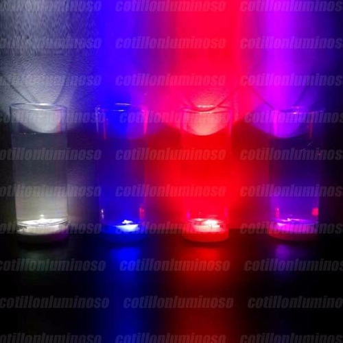 10 vasos largos luminosos luz led cotillon carioca fiesta
