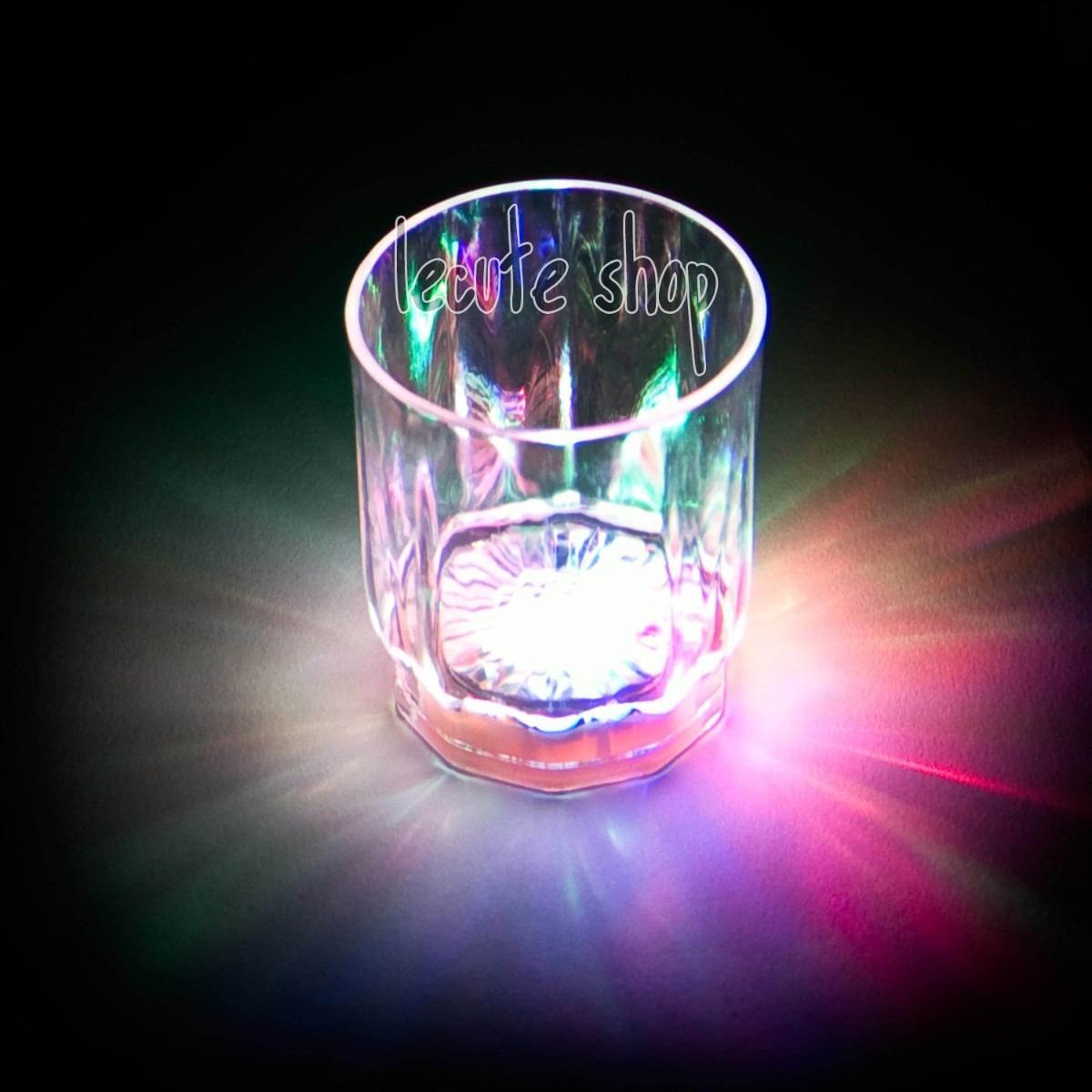 10 vasos tequileros luminosos led shot caballito bar for Vasos para bar