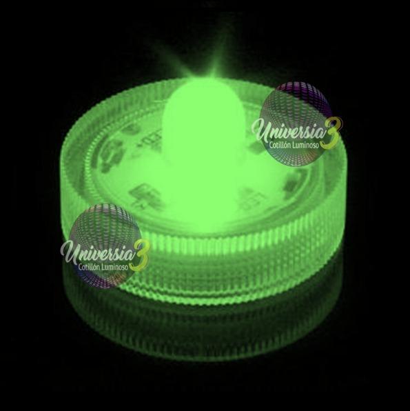 10 Vela Moneda Verde Led Sumergible Cotillon Luminoso Combo -   329 ... d8227af081b