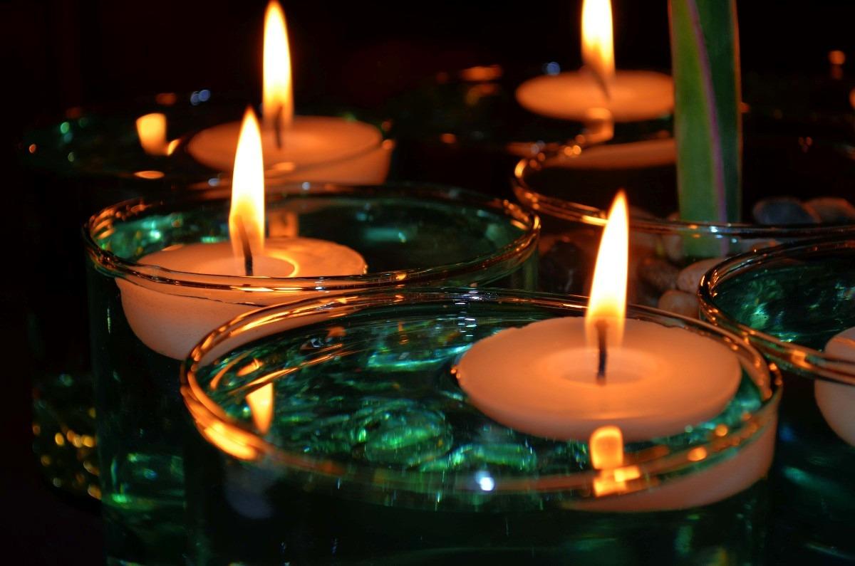 10 velas flotantes para decoraci n aluzza en for Vallas decorativas para jardin