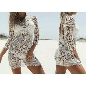 8adb0343e Vestido Saida De Praia Croche Renda - Calçados, Roupas e Bolsas com o  Melhores Preços no Mercado Livre Brasil