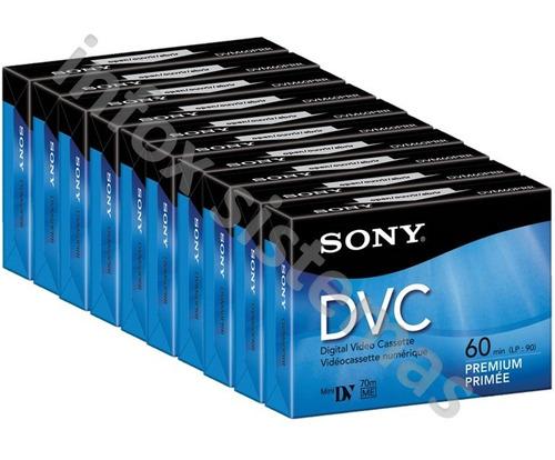 10 video cassettes digital sony mini dv 60min dvc dvm60prr d