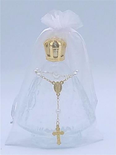10 vidro nossa senhora aparecida 60ml tercinho e organza