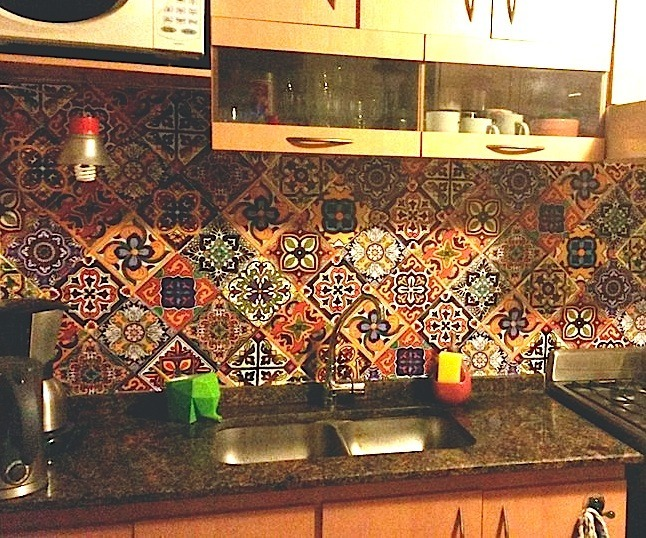 10 Vinilos Decorativos Azulejos 20x20cm Cocina Bano Talavera