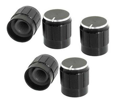 10 volumen control rotatorio perillas negro de 6mm de diámet