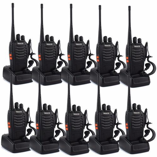 10 walkie talkies uhf 400-470mhz 16 canales rango 5 km