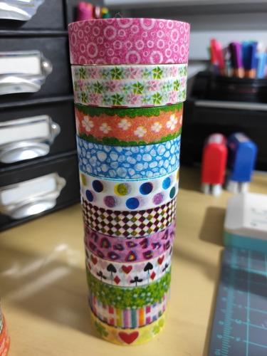 10 washi tape (+1 de brinde)