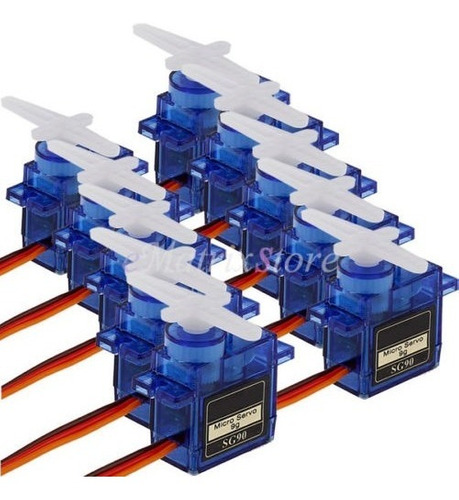 10 x 9g sg90 micro servo motor para robot rc helicóptero avi