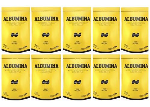 10 x albumina refil 500g - naturovos ( natural/sem sabor)