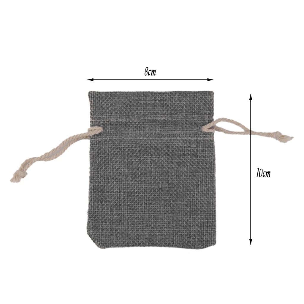 a91d09371 10 x lino yute saco joyas bolsa con cordón regalo bolsas fa. Cargando zoom.