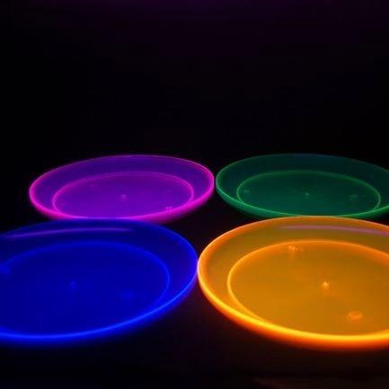 10 x  platos postre neón ideal para tu evento 100% diversión