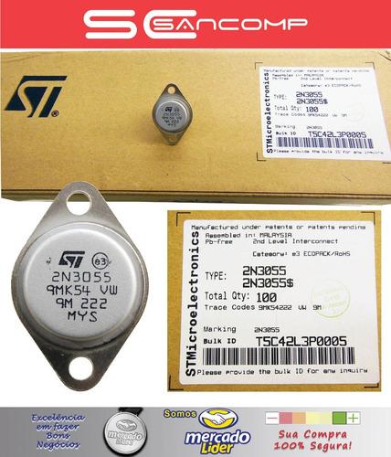 10 x transistor 2n3055 - st - qualidade superior
