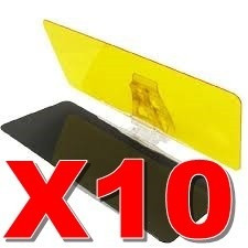 10 x visera visor auto hd parasol dia noche  envio gratis