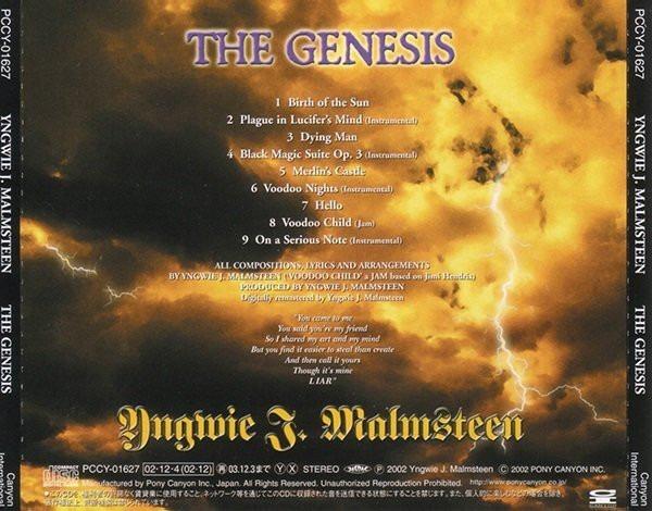 10% Yngwie Malmsteen Genesis 02 Heavy(ex/ex)(japan)cd Impor+