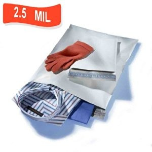 100 14.5  x 19  sobres blanco poli mailer transporte de corr