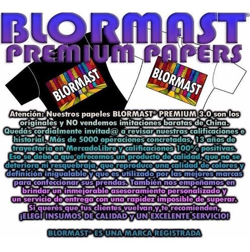100 a4 papel transfer blormast tela ropa oscura 3.0 premium - el mejor del mercado - 100% profesinal